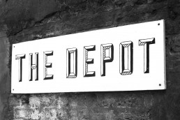 The Depot Clapton sign (© Voist Ltd.)