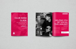 Layout, print, design, Club Soda Guide image © Voist Ltd